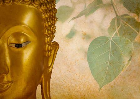 Buddha and Bodhi Leaves