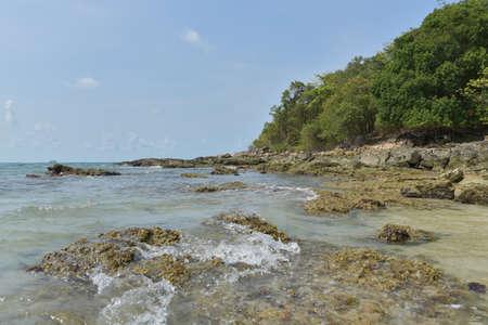 samet: The rocks on the beach in Koh Samet
