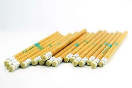 teaching crayons: Many Pencils Stock Photo