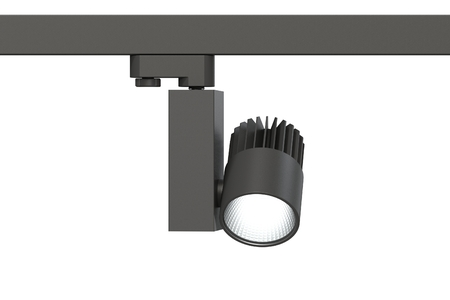 LED white light for lighting exhibition space and shops. Isolate on white background. New technologies. IT technology. 3d render of the lamp model. this is my engineering project ready for production.