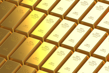 Bar of gold. Gold background of the bars.