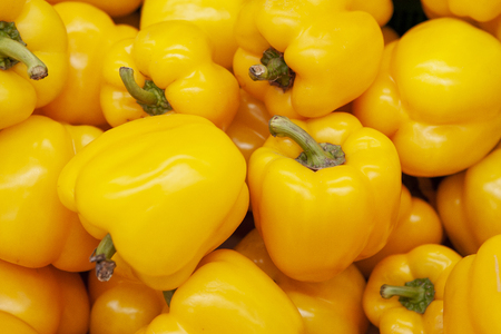 Fresh yellow bell pepper. Delicious and brilliant.