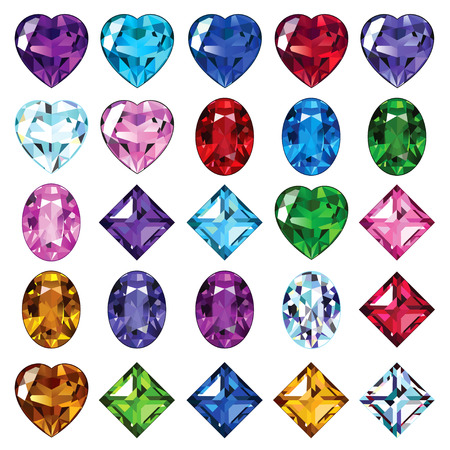 coeur diamant: Ic�nes brillantes pierres pr�cieuses pour votre conception