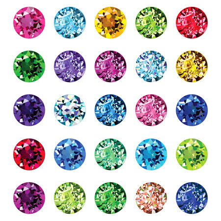 diamond background: Bright icons gems Illustration