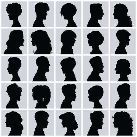 side: Set of opposite-sex avatars for your design Illustration