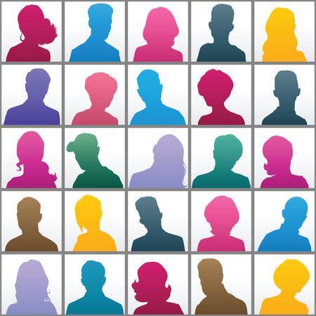 Set of opposite-sex avatars for your design 矢量图像