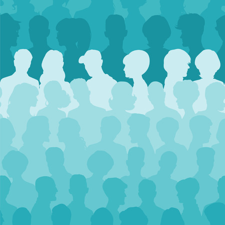 community: Seamless pattern of people silhouettes for your design