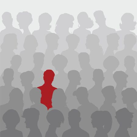 unrecognizable person: Abstract background of people silhouettes for your design