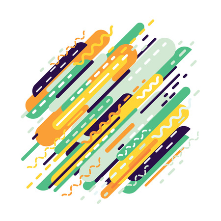 water reflection: Abstract geometric background from strips. Dynamic modern background. Vector illustration.