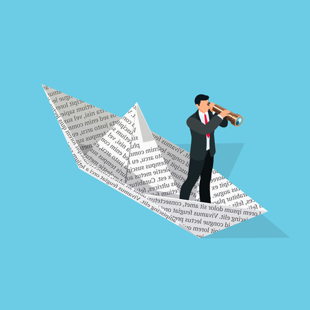 Investor  Isometric Business Concept  3d Businessman With A