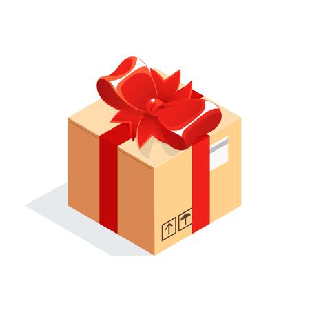 Isometric box illustration.