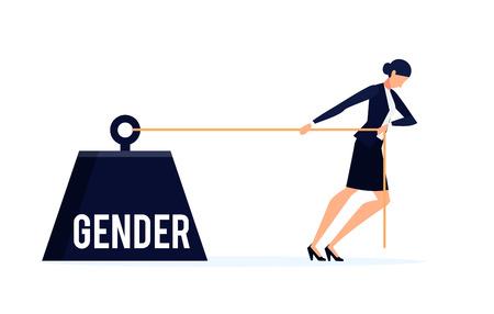 Business concept van discriminatie in een platte stijl.