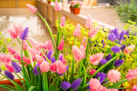 to decorate the interior of a summer cafe are used Beautiful flowers