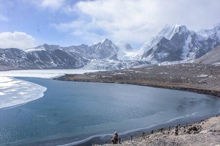 Ice Lake in the mountain Фото со стока