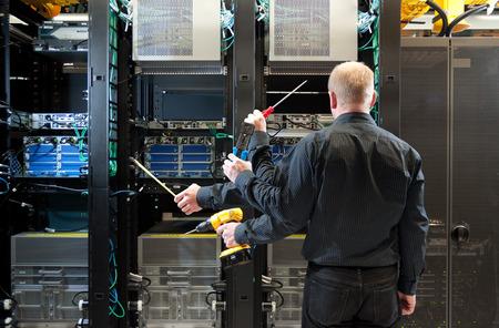 Network server installation Stock Photo - 43337626