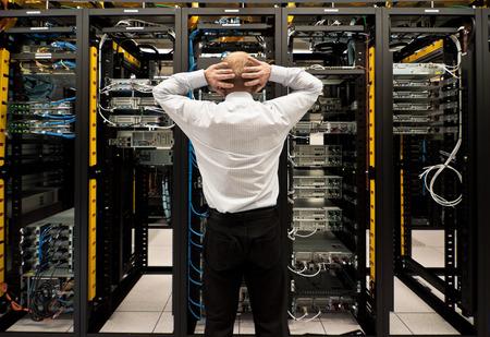 데이터 센터의 문제 스톡 콘텐츠