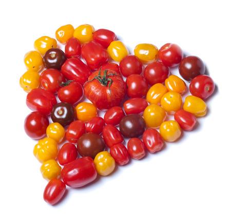 Heart shaped tomatoes Stock Photo