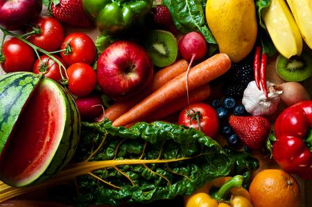 모듬 과일, 야채, 매운 물건 스톡 콘텐츠