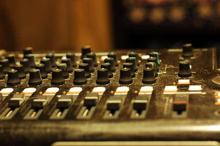 mixer in studio Stock Photo