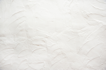 stucco: Wall covered with white stucco finishing Stock Photo