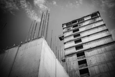concrete commercial block: building construction Stock Photo
