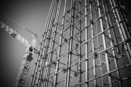 concrete construction: building construction Stock Photo