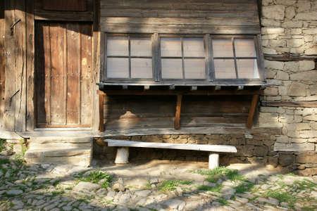farmhouse: wall of the farmhouse Stock Photo