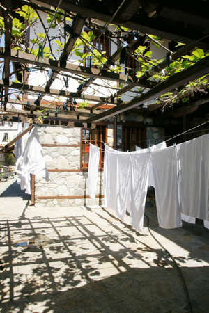 drying: drying clothes