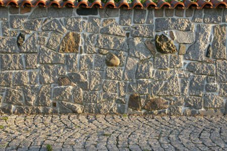 randomness: Stone fence Stock Photo