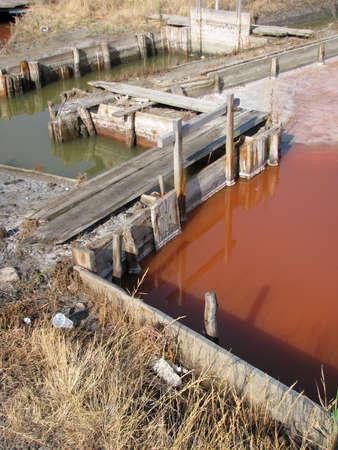 sedimentation: salt production 6 Stock Photo