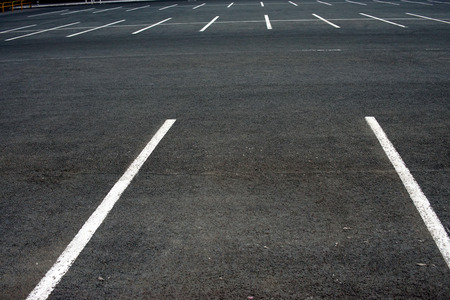The markup in the empty parking lot Stock Photo