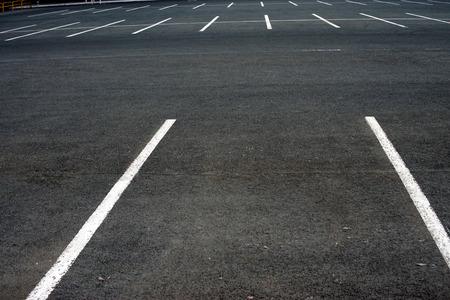 The markup in the empty parking lot Reklamní fotografie