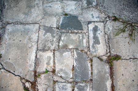 Cracked concrete texture closeup background chapped decorative