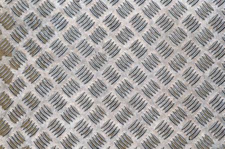 Steel Checkerplate Metal Sheet of Factory Flooring, Anti Skid Platform Floor for Engineering Materials. Metallic Sheet Surface Texture Background, Abstract Pattern Seamless of Checker Plate. Stock fotó