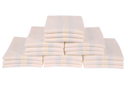 XXLarge Stack of diapers on white. Clipping path included. Stock Photo - 11409464