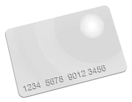 白い背景の上のメンバーシップ カード 写真素材