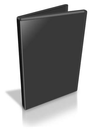 case: Open Black DVD Case on white