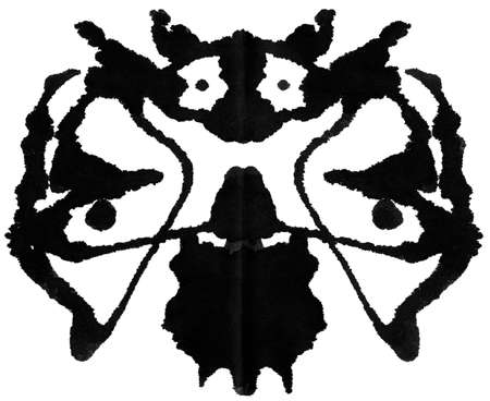 Ink blot for psychiatric evaluations. photo