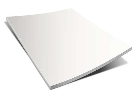 blank book cover: Empty magazine on white background. Perfect blank