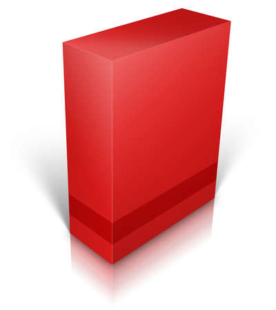 personalized: Red blank box isolated on white background ready to be personalized by you.