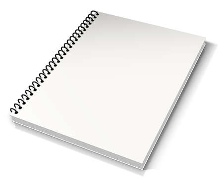 Spiral binder. Note pad with white photo
