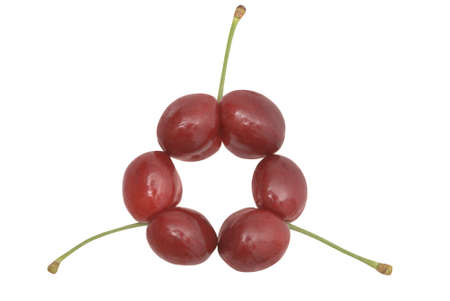Uncommon cherries on white. Clipping path included. Stock Photo - 11721360