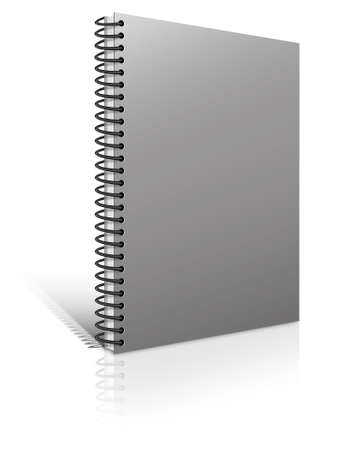 book binding: Spiral binder. Note pad with white