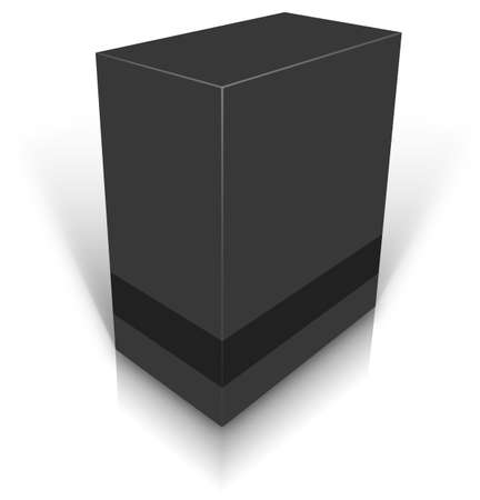 Black blank box isolated on white background ready to be personalized by you.  photo