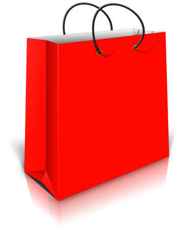 Red Gift Bag on white photo