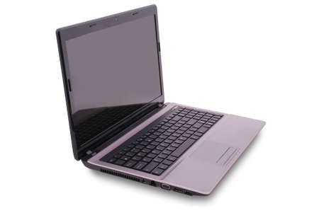 minicomputer: Laptop on white background.