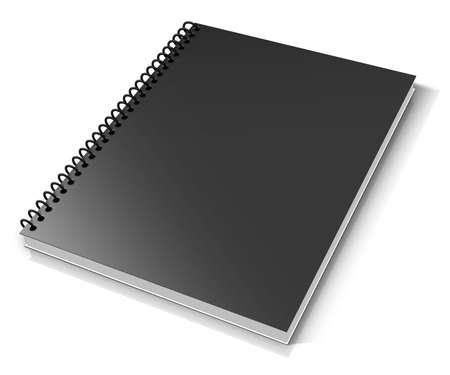 スパイラル バインダー。白いノート パッド