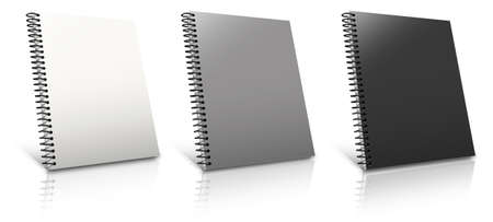Spiral binder. Note pad with white