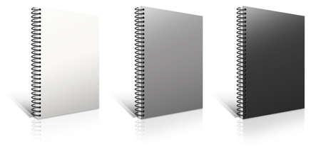 スパイラル バインダー。白のメモ帳 写真素材