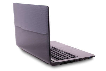 minicomputer: Laptop on white background.  Stock Photo